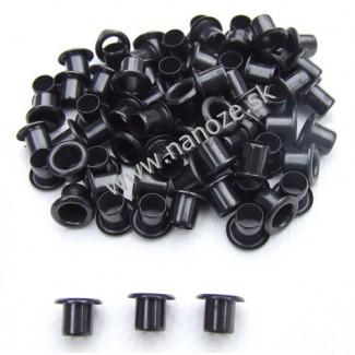 duté nity čierne 10x7,5 mm