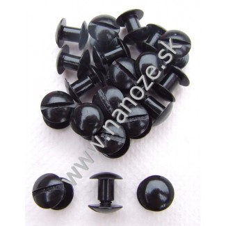 chicag screws čierne 10x7 mm