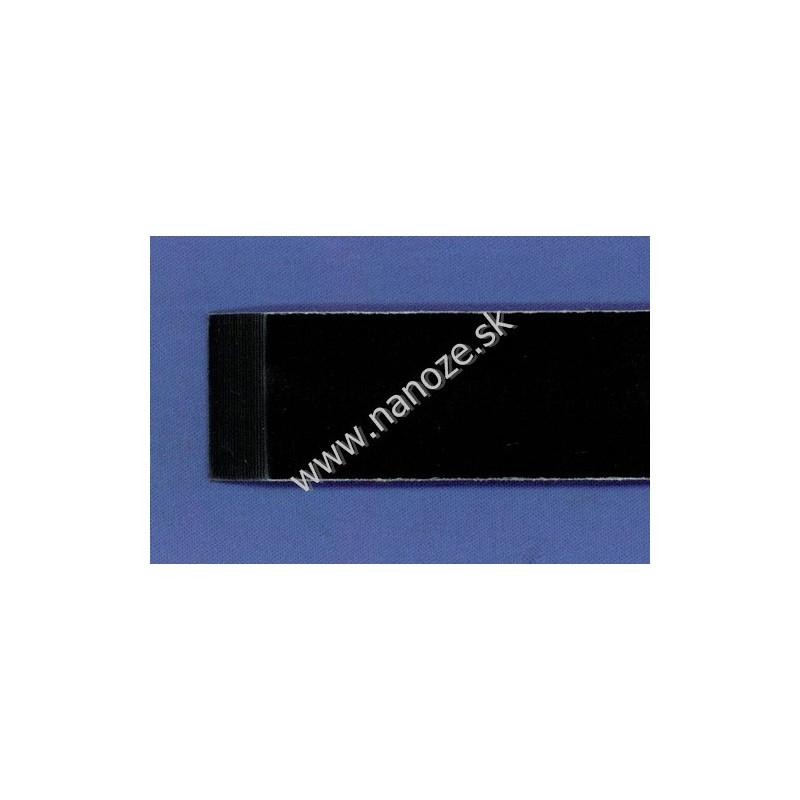 Micarta llinen čierna 6,35x80x125 mm